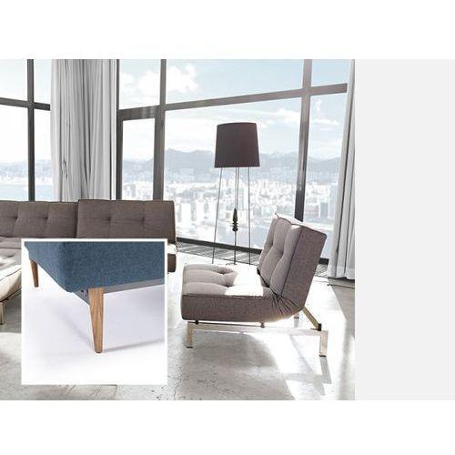 Fotel Splitback szary 216 nogi jasne drewno  741011216-741025-1-6, marki INNOVATION iStyle do zakupu w sfmeble.pl