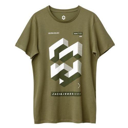 T-shirt z okrągłym dekoltem, wzorzysty, z krótkim rękawem marki Jack & jones