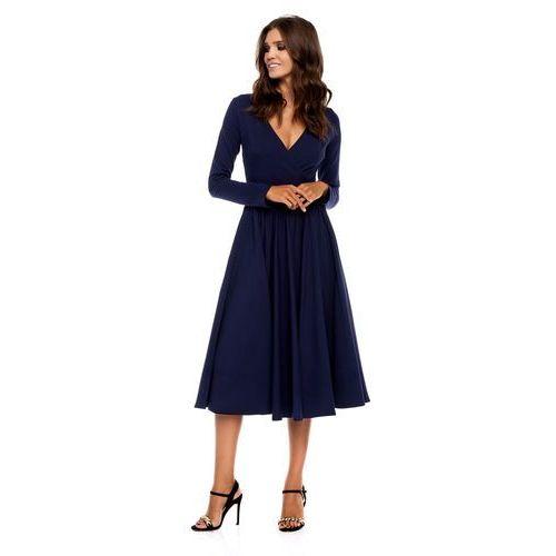 Sukienka Cosenza w kolorze granatowym, w 3 rozmiarach