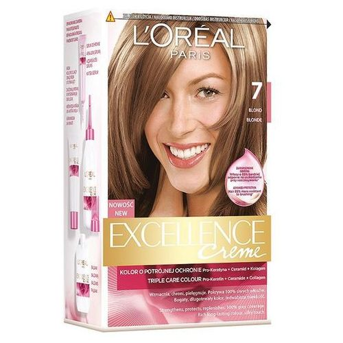 Excellence creme farba do włosów 7 blond - paris marki L'oreal