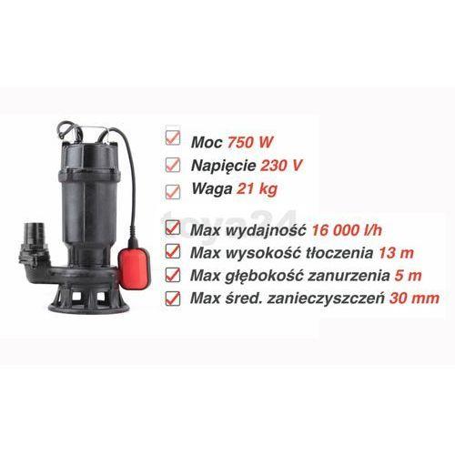 Yato POMPA DO ŚCIEKÓW Z ROZDRABNIACZEM (SYSTEM TNĄCY) 750W - produkt z kategorii- Pompy ogrodowe