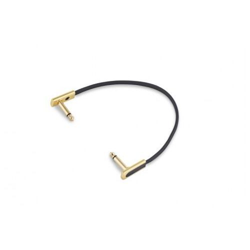 RockBoard Flat Patch Cable 20cm Gold kabel połączeniowy z wtykiem kątowym