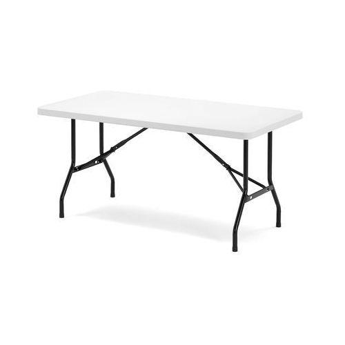 Stół KLARA, składany, 1530x760x745 mm, biały, czarny, 116382