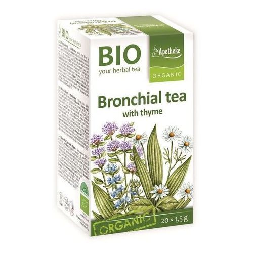 Herbatka na oskrzela z tymiankiem bio 20 x 1,5 g - apotheke marki Apotheke dystrybutor: bio planet s.a., wilkowa wieś 7, 05-084 leszno k