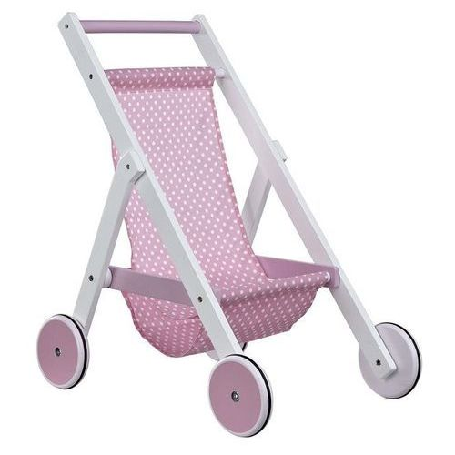 Kids Concept Drewniany Wózek dla Lalek Róż - oferta [05f74d70d7057548]