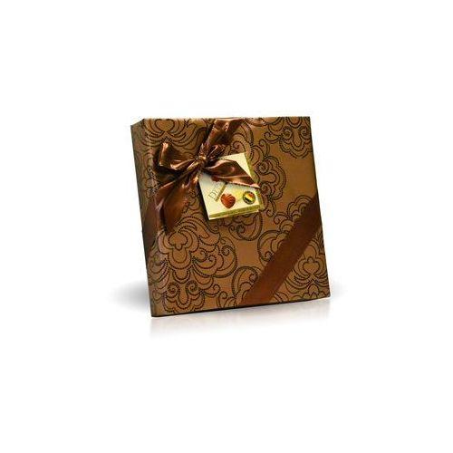Delafaille Belgijskie pralinki 200g, złote ze wstążką kwadrat (5413202509427)