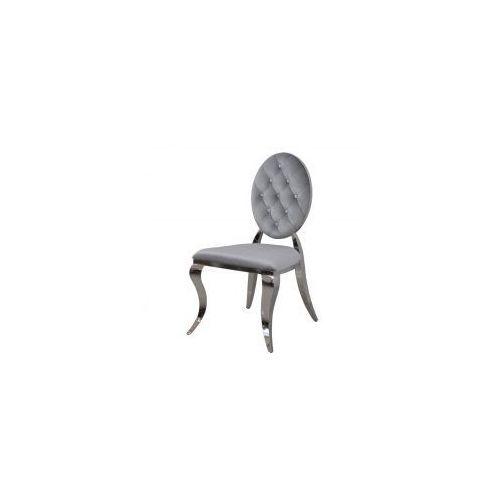 Krzesło Ludwik II glamour Silver pikowane kryształkami - nowoczesne krzesła