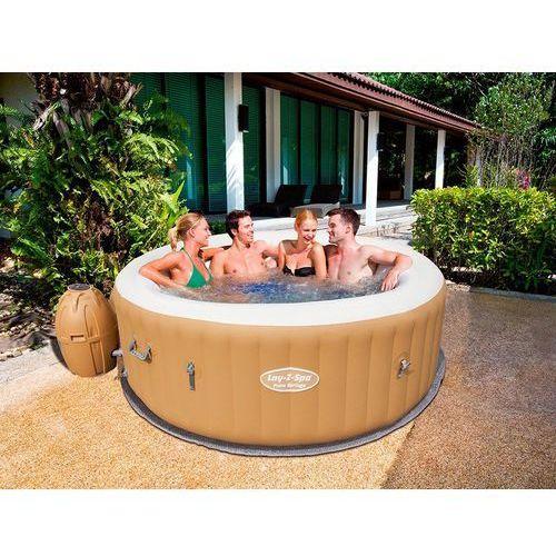 Przenośny dmuchany basen z hydromasażem dla 6 osób - palm springs marki Beliani