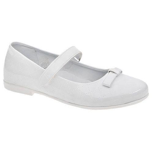 Balerinki buty komunijne KORNECKI 4431 Białe Lakierki - Biały, kolor biały