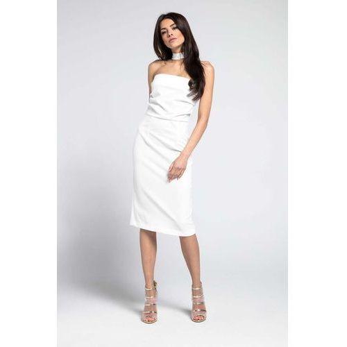 d711ab9113 Elegancka sukienka ecru - sprawdź!