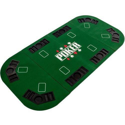 Zielony blat stół do pokera 160x80 cm poker kasyno - zielony marki Mks