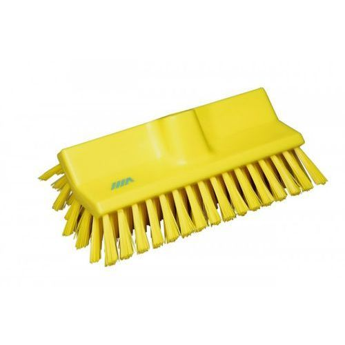 Szczotka kątowa High-Low do szorowania, średnia, żółta, 265 mm, VIKAN 70476, produkt marki Vikan