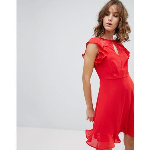New look ruffle dress - red