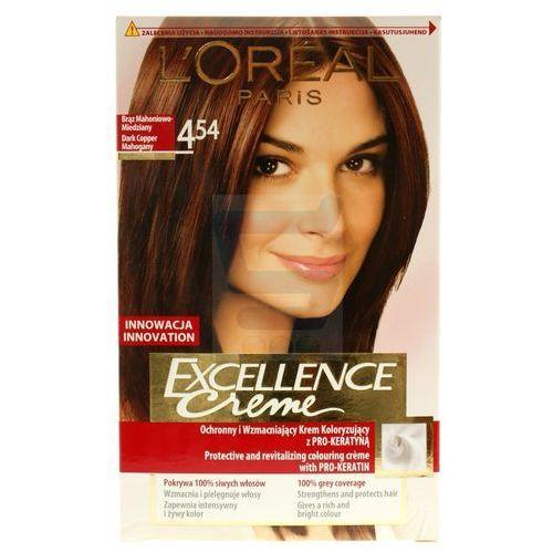 Excellence creme farba do włosów 4.54 brąz mahoniowo miedziany - paris marki L'oreal