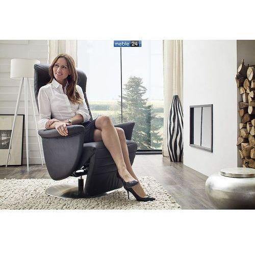 ART RELAX - VIP-A - FOTEL TV- z podnóżkiem-skóra czarny elektryczny, marki niemiecke meble do zakupu w meble24sklep