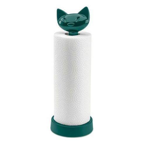 Koziol - stojak na ręcznik kuchenny miaou szmaragdowy