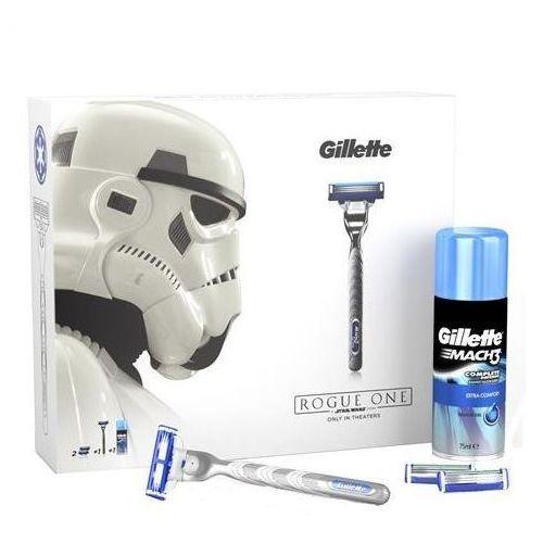Gillette Mach 3 turbo stars wars zestaw maszynka do golenia + wymienne ostrza 2 szt + żel do golenia 75ml (7702018423866)