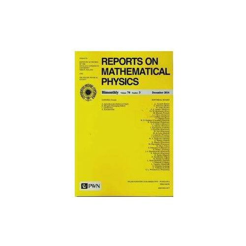Reports on Mathematical Physics 74/3 2014