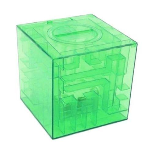 Skarbonka labirynt - zielona - zielony marki Gadget master