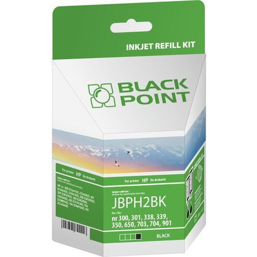 Black Point Zestaw do napełnień, do drukarki HP, czarny (JBPH2BK) Darmowy odbiór w 19 miastach!