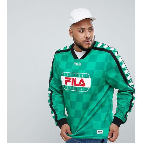 retro goalie long sleeve t-shirt in green - green, Fila, XXXL-XXXXL