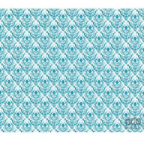 Fototapeta Tradycyjne kwiatowe wzory – niebieskie na białym tle 1457 - oferta [05b8d34663ffb560]