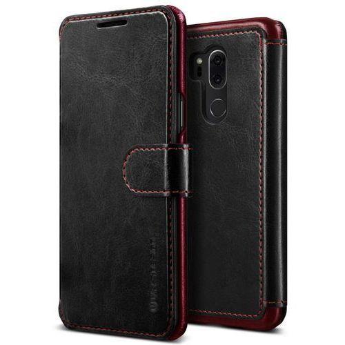 Etui portfel VRS Design Layered Dandy do LG G7 ThinQ Czarny, kolor czarny