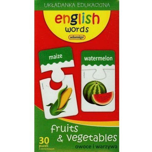 Zestaw edukacyjny owoce i warzywa angielski - darmowa dostawa od 199 zł!!! marki Adamigo