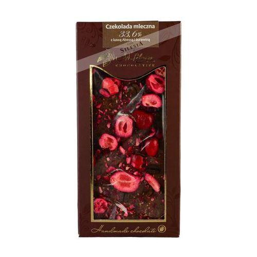 M. pelczar czekolada mleczna z kawą abessą i żurawiną 85g marki M. pelczar chocolatier