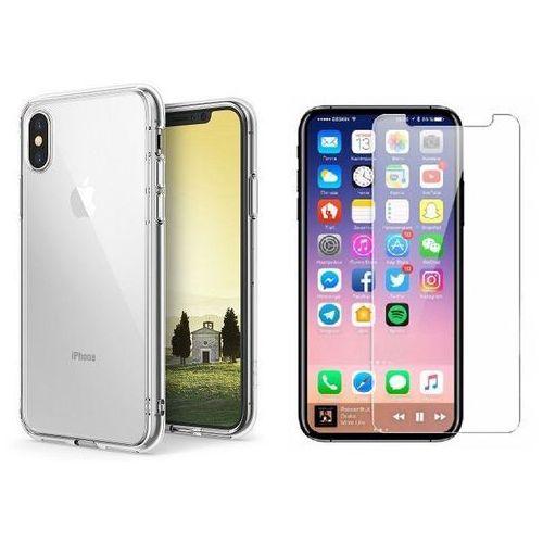 Zestaw | Rearth Ringke Fusion Crystal View | Obudowa + Szkło ochronne Perfect Glass dla modelu Apple iPhone X / 10