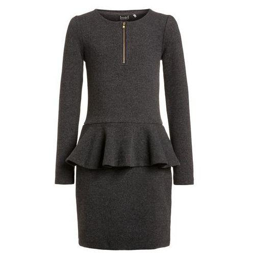 limited by name it NITOBEATE Sukienka dzianinowa dark grey melange (sukienka dziecięca)