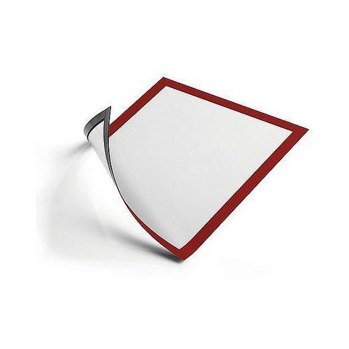 Ramka magnetyczna duraframe magnetic a4 czerwona 486903 - 5szt. marki Durable