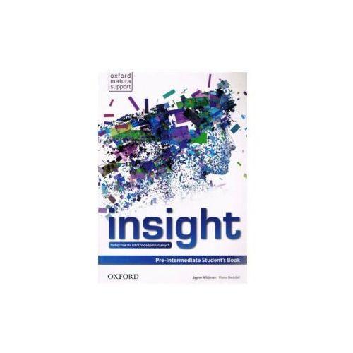 Insight Pre-Intermediate Student's Book, FIONA BEDDALLJAYNE WILDMAN