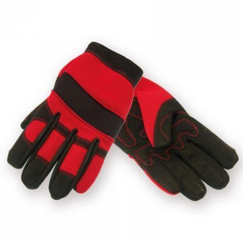 Rękawice ochronne DEDRA BH1001L Plus Hand Czarno-czerwony (rozmiar L)
