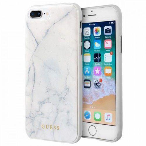 Guess marble - etui iphone 8 plus / 7 plus (biały) - szybka wysyłka - 100% zadowolenia. sprawdź już dziś!