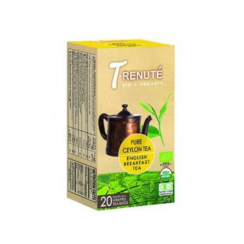 T'renute (herbaty) Herbata czarna english breakfast bio 30 g (1,5 g x 20 szt.) - t'renute