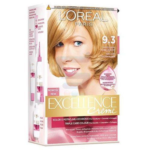 Excellence Creme farba do włosów 9.3 Bardzo jasny blond złocisty - L'Oreal Paris, kolor blond