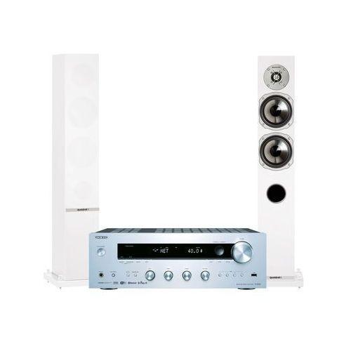 Onkyo Zestaw stereo tx-8250s + quadral rhodium 500 biały + darmowy transport! (2900881247229)