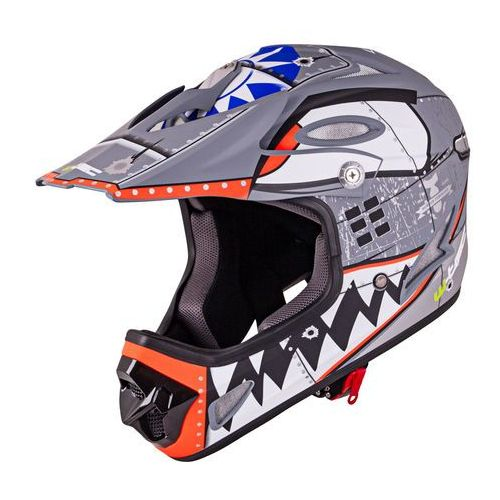 Kask downhill na rower motor enduro fs-605 allride, cartoon, m (57-58) marki W-tec