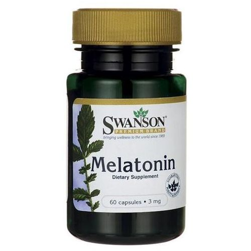 Swanson Melatonina - 3000mcg (3mg) - (60 kap) (0087614014982)