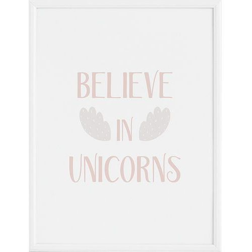 Follygraph Plakat believe in unicorns 21 x 30 cm