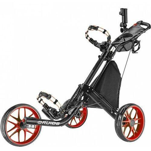 Manualny wózek golfowy DRUIDS COMPACT EZ CARBON (czarno-czerwony)