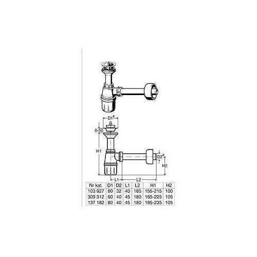 Viega syfon umywalkowy butelkowy 103 927 - oferta (85756a2b35b5f22b)