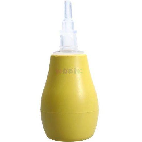 Gruszka aspirator do nosa z osłonką BabyOno (żółta) (gruszka dziecięca) od NODIK.pl