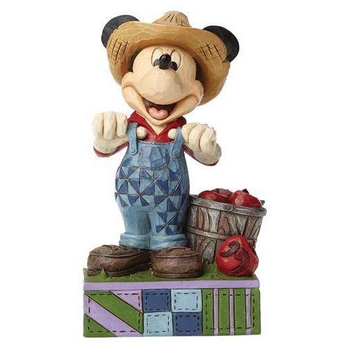 Myszka mickey mouse rolnik z koszem jabłek fresh from the farm (farmer mickey) 4049635 figurka dekoracja pokój dziecięcy marki Jim shore