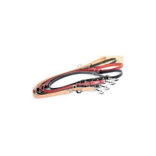 Dingo Smycz skórzana przedłużana nitowana 1x110-200cm czarna - oferta [f51ede46634f7745]