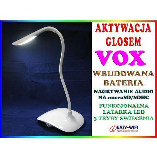 PODSŁUCH GSM W KSZTAŁCIE STOŁOWEJ LAMPKI NOCNEJ AKTYWACJA DŹWIĘKIEM VOX DYKTAFON, produkt marki Sklep Easy-WiFi