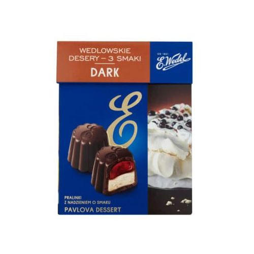 E. WEDEL 192g Dark Wedlowskie desery 3 smaki Pralinki z nadzieniem