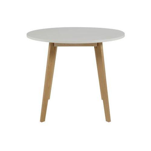 Actona Raven Biały Stół, Biały Lakier Matowy, Okrągły Drewniany 90cm - 0000052884 - produkt dostępny w sfmeble.pl