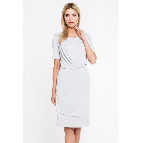 cef3e825ac Sukienka z brokatowej tkaniny z plisowaniem - Semper